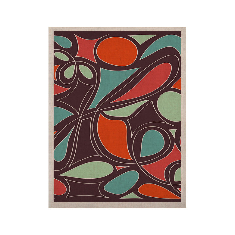 "Miranda Mol ""Retro Swirl"" KESS Naturals Canvas (Frame not Included) - KESS InHouse  - 1"
