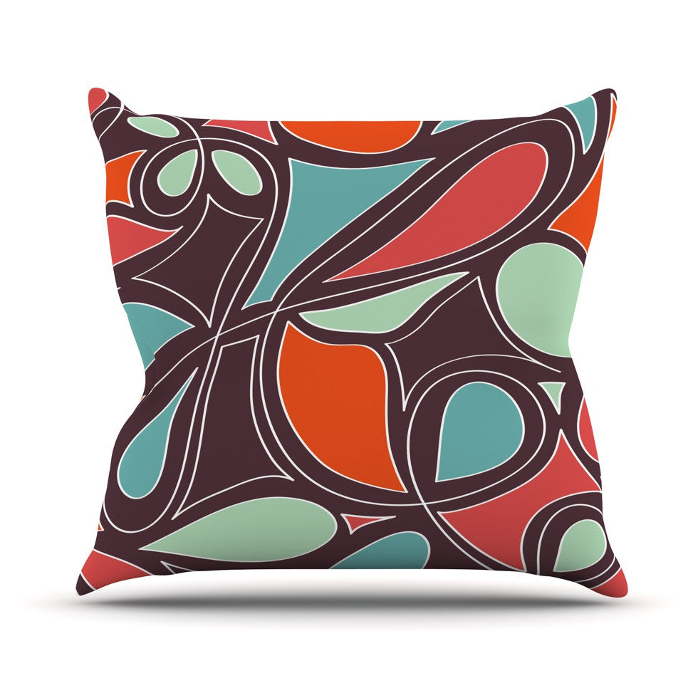 "Miranda Mol ""Retro Swirl"" Throw Pillow - KESS InHouse  - 1"