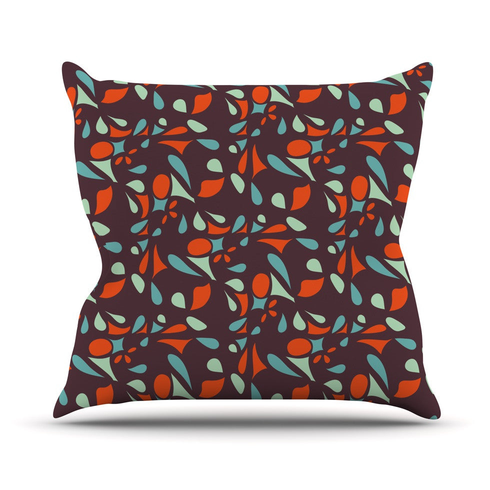 "Miranda Mol ""Retro Tile"" Throw Pillow - KESS InHouse  - 1"
