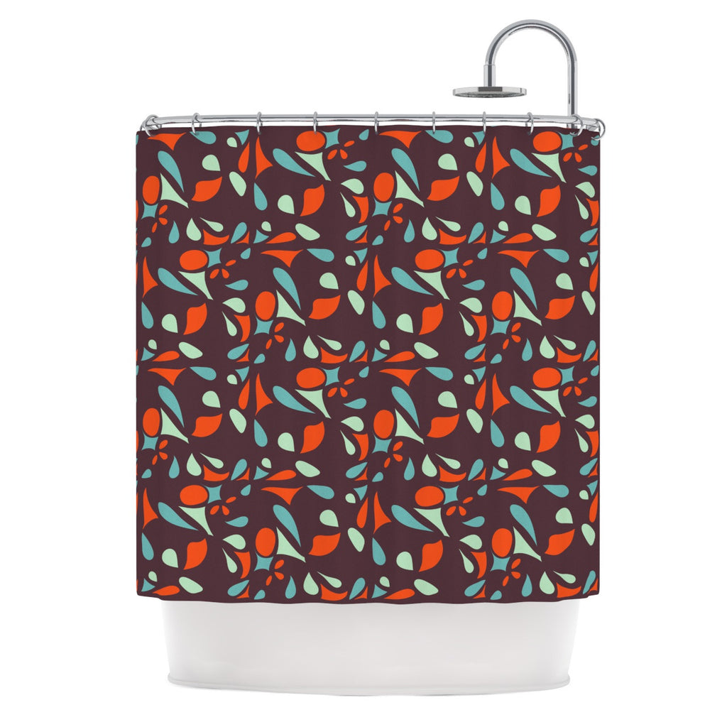 "Miranda Mol ""Retro Tile"" Shower Curtain - KESS InHouse"