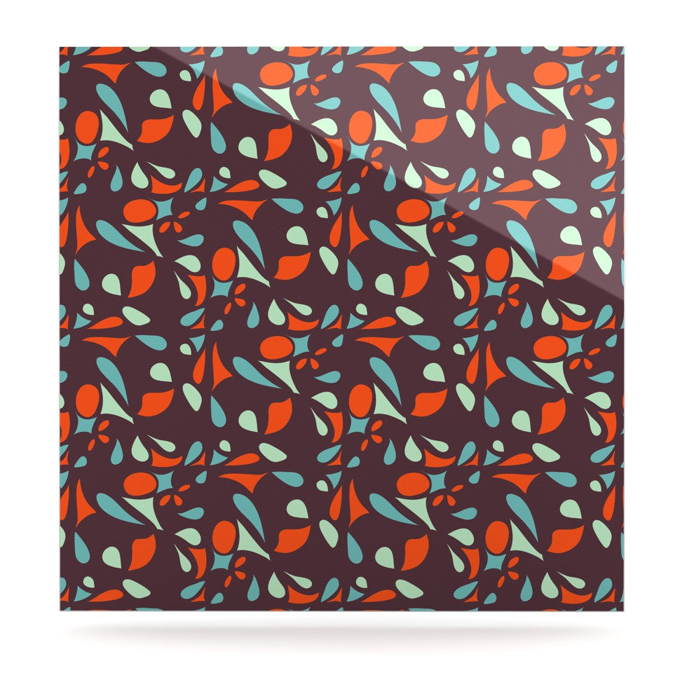 "Miranda Mol ""Retro Tile"" Luxe Square Panel - KESS InHouse  - 1"