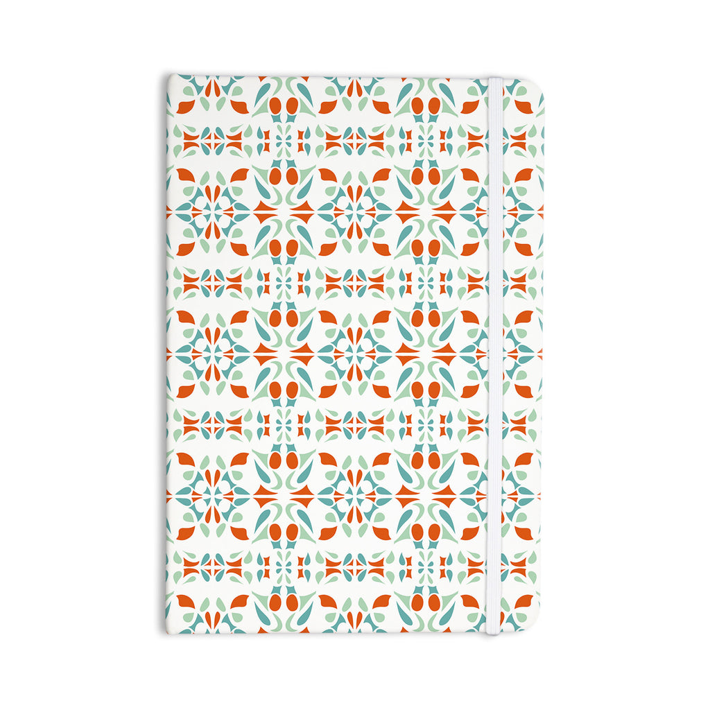 "Miranda Mol ""Italian Kitchen Orange Green"" Everything Notebook - KESS InHouse  - 1"