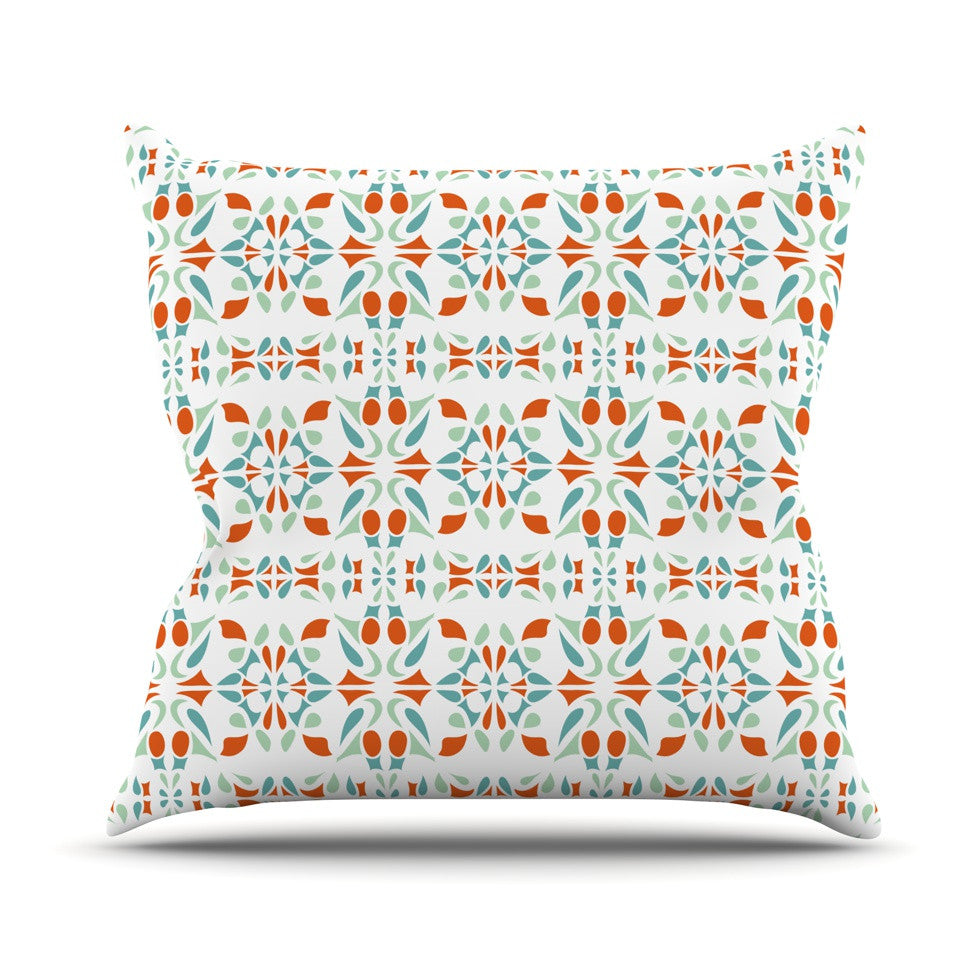 "Miranda Mol ""Italian Kitchen Orange Green"" Throw Pillow - KESS InHouse  - 1"