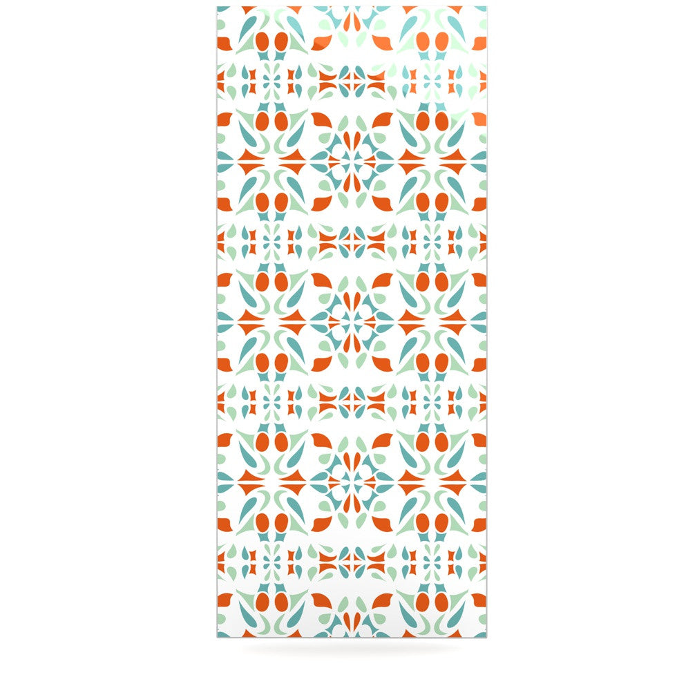 "Miranda Mol ""Italian Kitchen Orange Green"" Luxe Rectangle Panel - KESS InHouse  - 1"