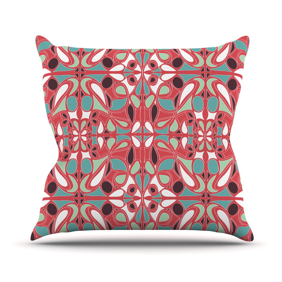 "Miranda Mol ""Stained Glass Pink"" Outdoor Throw Pillow - KESS InHouse  - 1"