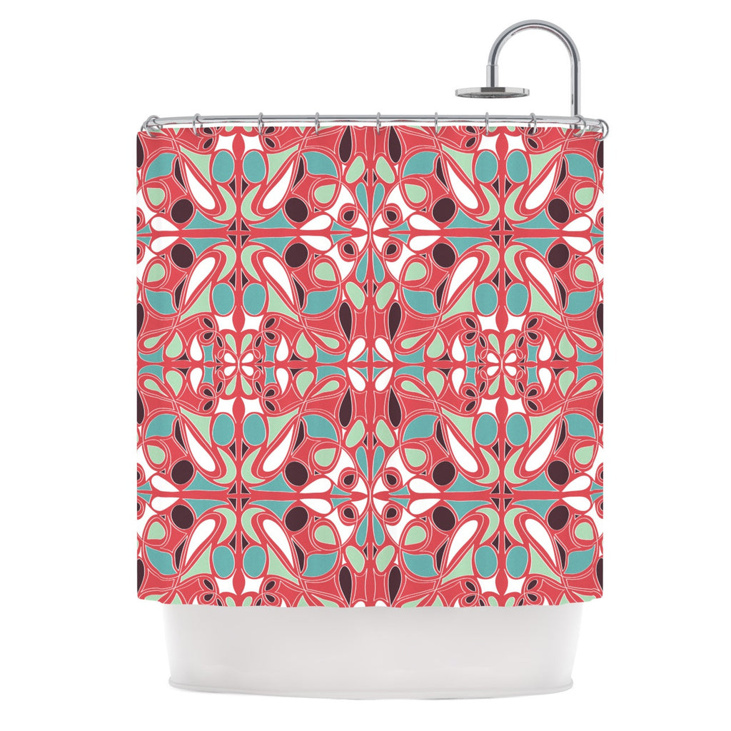 "Miranda Mol ""Stained Glass Pink"" Shower Curtain - KESS InHouse"