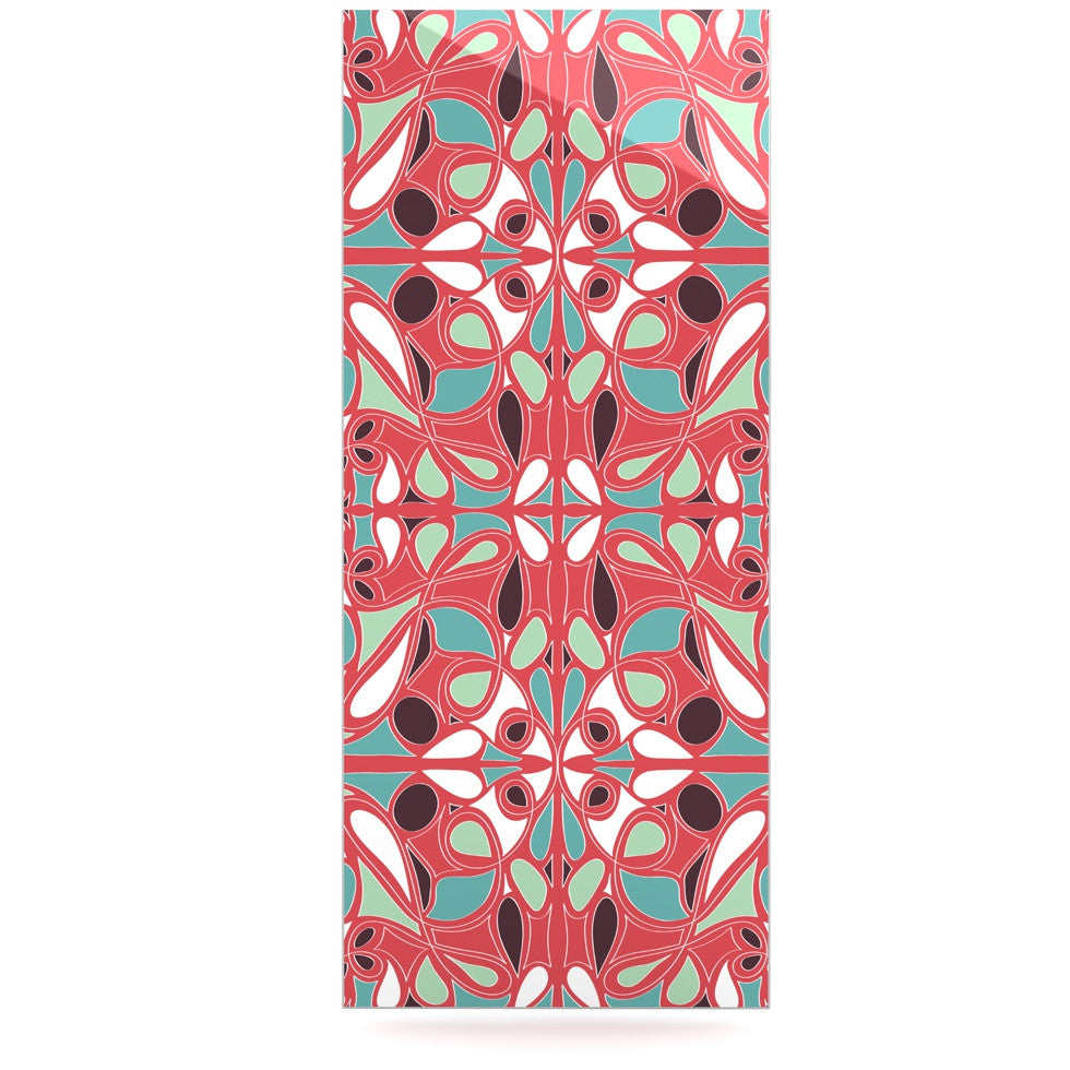"Miranda Mol ""Stained Glass Pink"" Luxe Rectangle Panel - KESS InHouse  - 1"