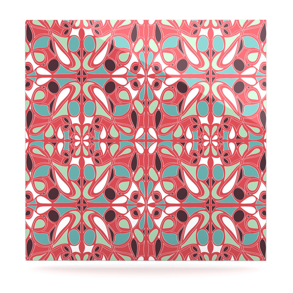 "Miranda Mol ""Stained Glass Pink"" Luxe Square Panel - KESS InHouse  - 1"