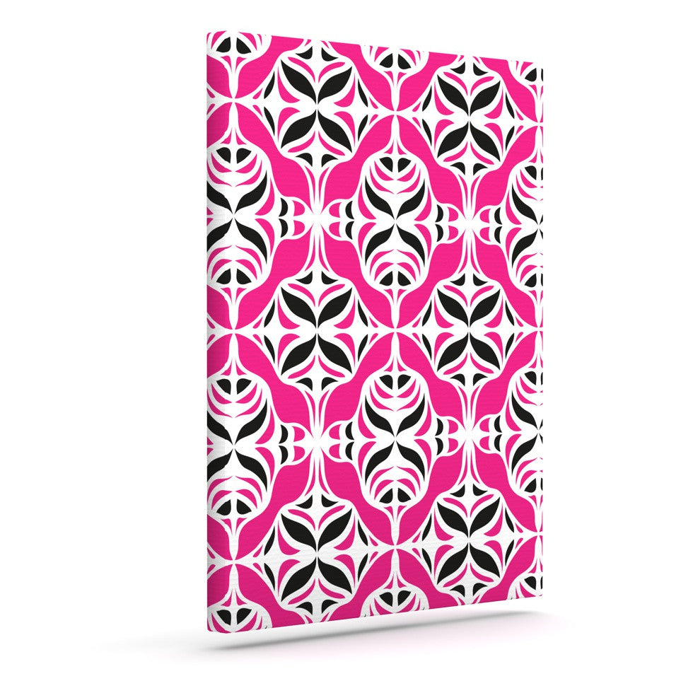 "Miranda Mol ""Think Pink"" Outdoor Canvas Wall Art - KESS InHouse  - 1"