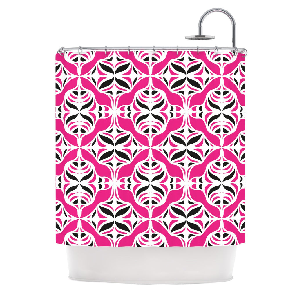 "Miranda Mol ""Think Pink"" Shower Curtain - KESS InHouse"