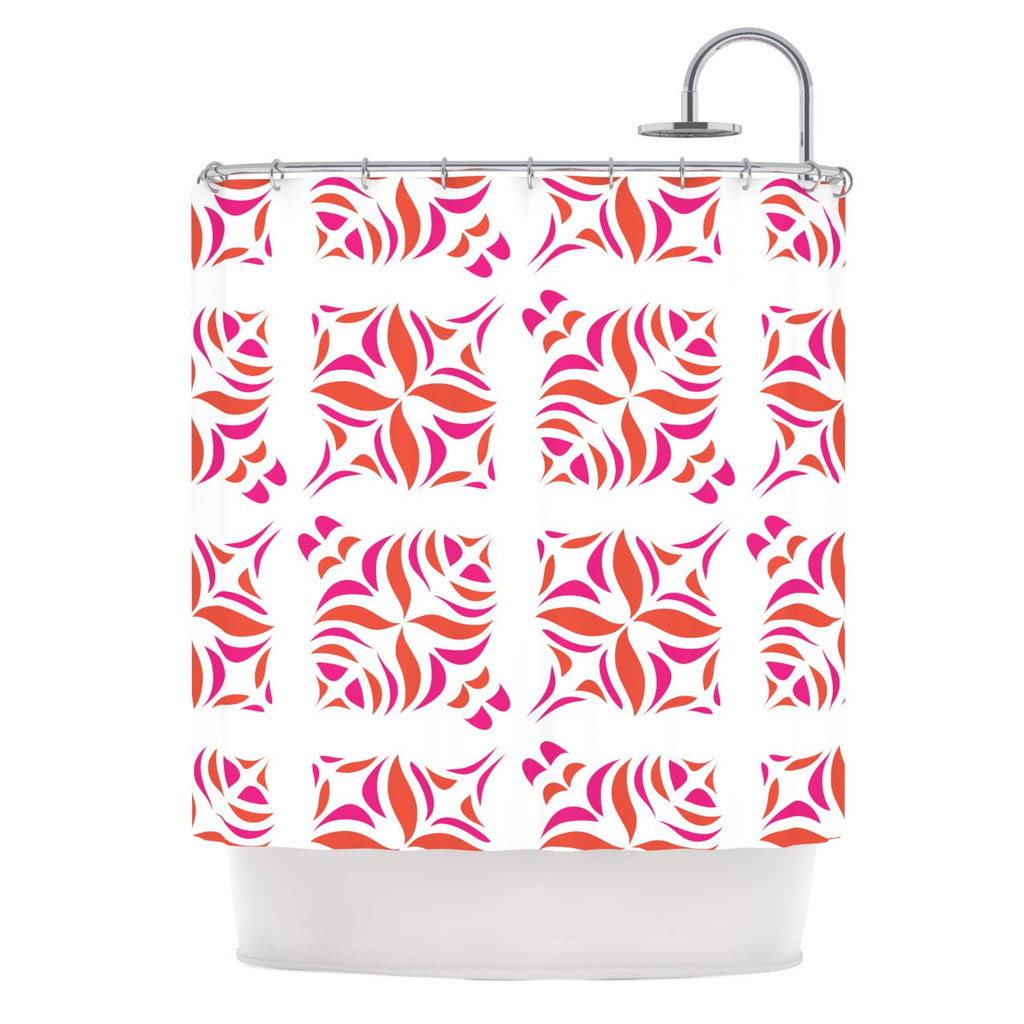 "Miranda Mol ""Orange Oasis"" Shower Curtain - KESS InHouse"