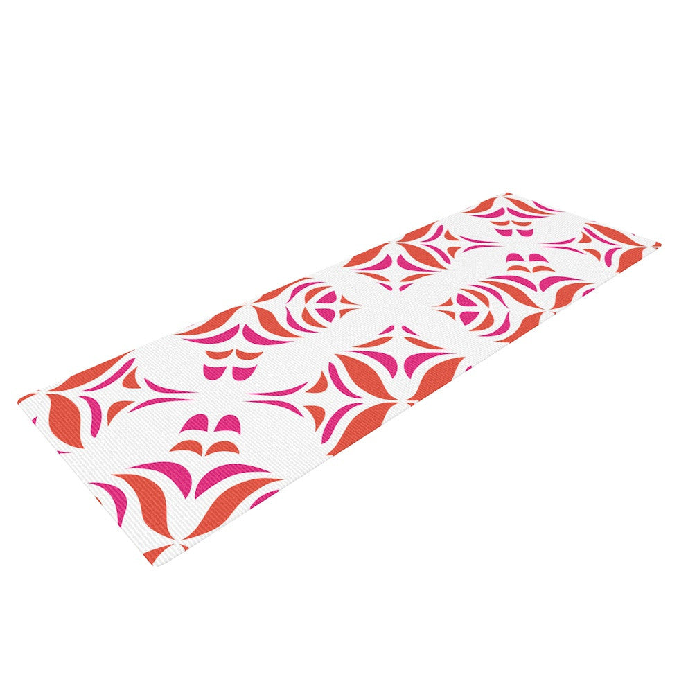 "Miranda Mol ""Orange Oasis"" Yoga Mat - KESS InHouse  - 1"