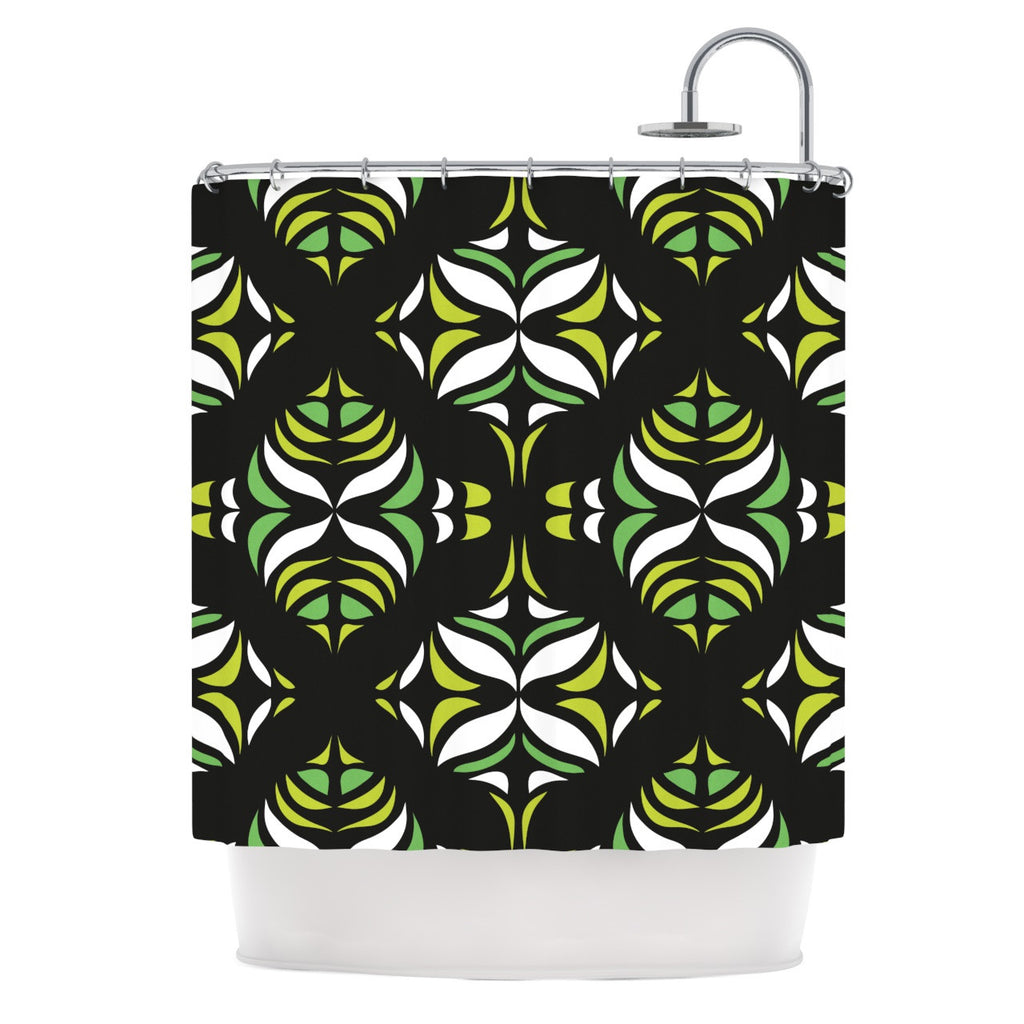 "Miranda Mol ""Retro Train"" Shower Curtain - KESS InHouse"