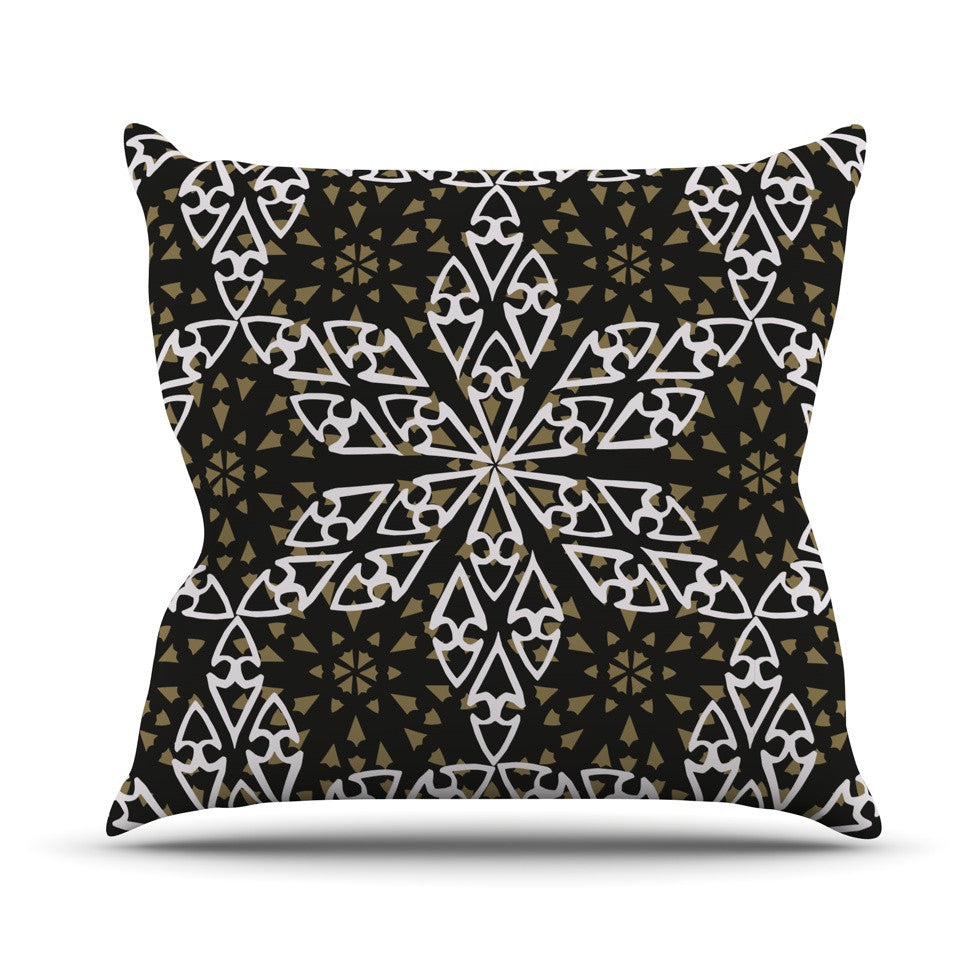 "Miranda Mol ""Ethnical Snowflakes"" Throw Pillow - KESS InHouse  - 1"