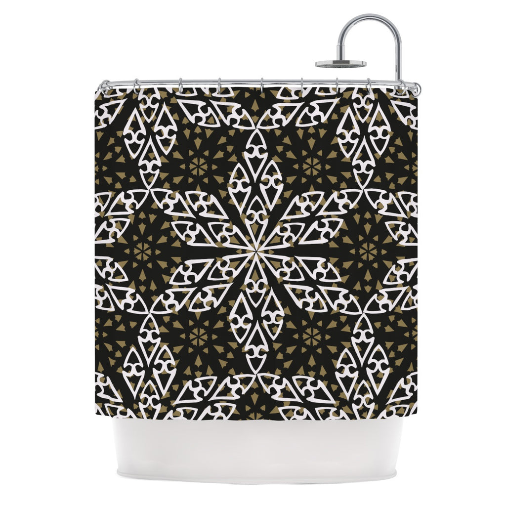 "Miranda Mol ""Ethnical Snowflakes"" Shower Curtain - KESS InHouse"