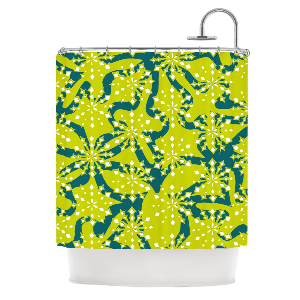 "Miranda Mol ""Festive Splash"" Shower Curtain - KESS InHouse"