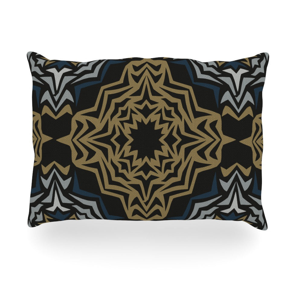 "Miranda Mol ""Golden Fractals"" Oblong Pillow - KESS InHouse"