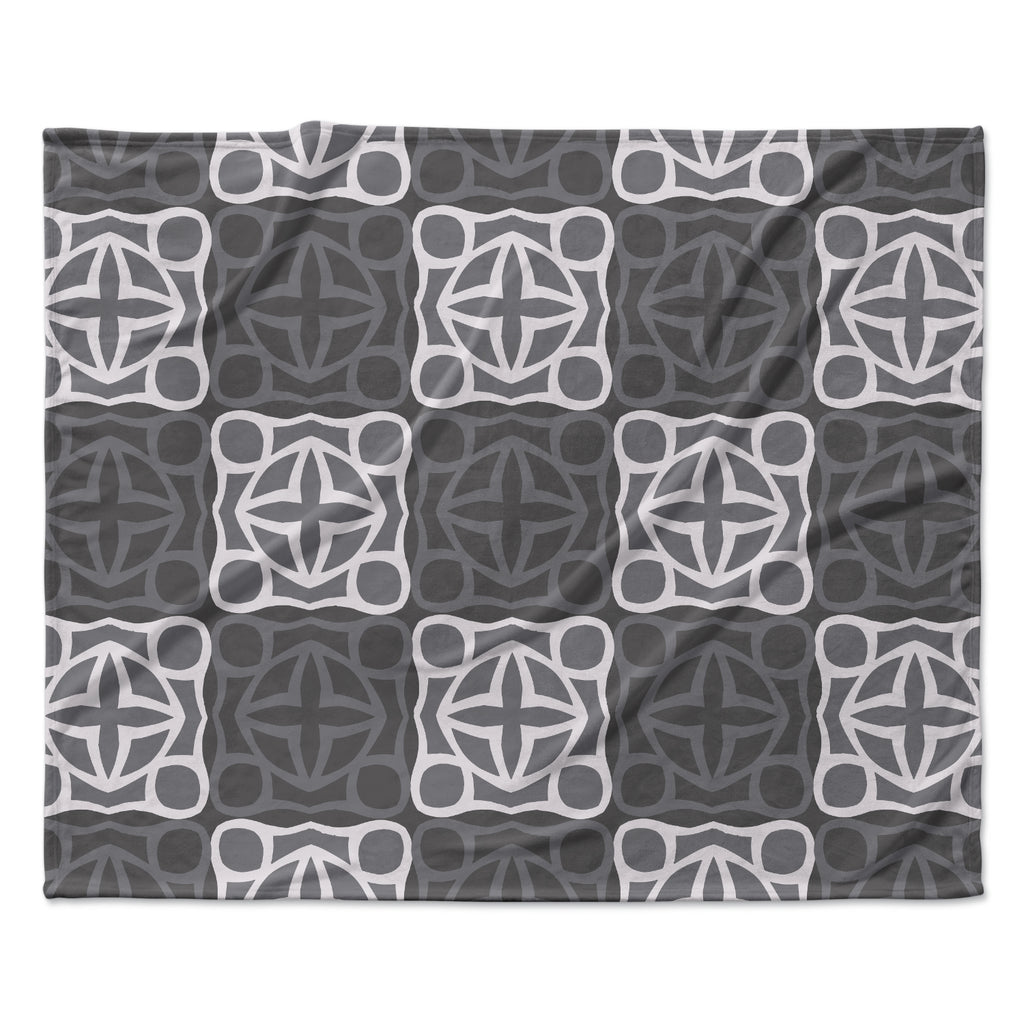"Miranda Mol ""Granny Goes Modern"" Fleece Throw Blanket"
