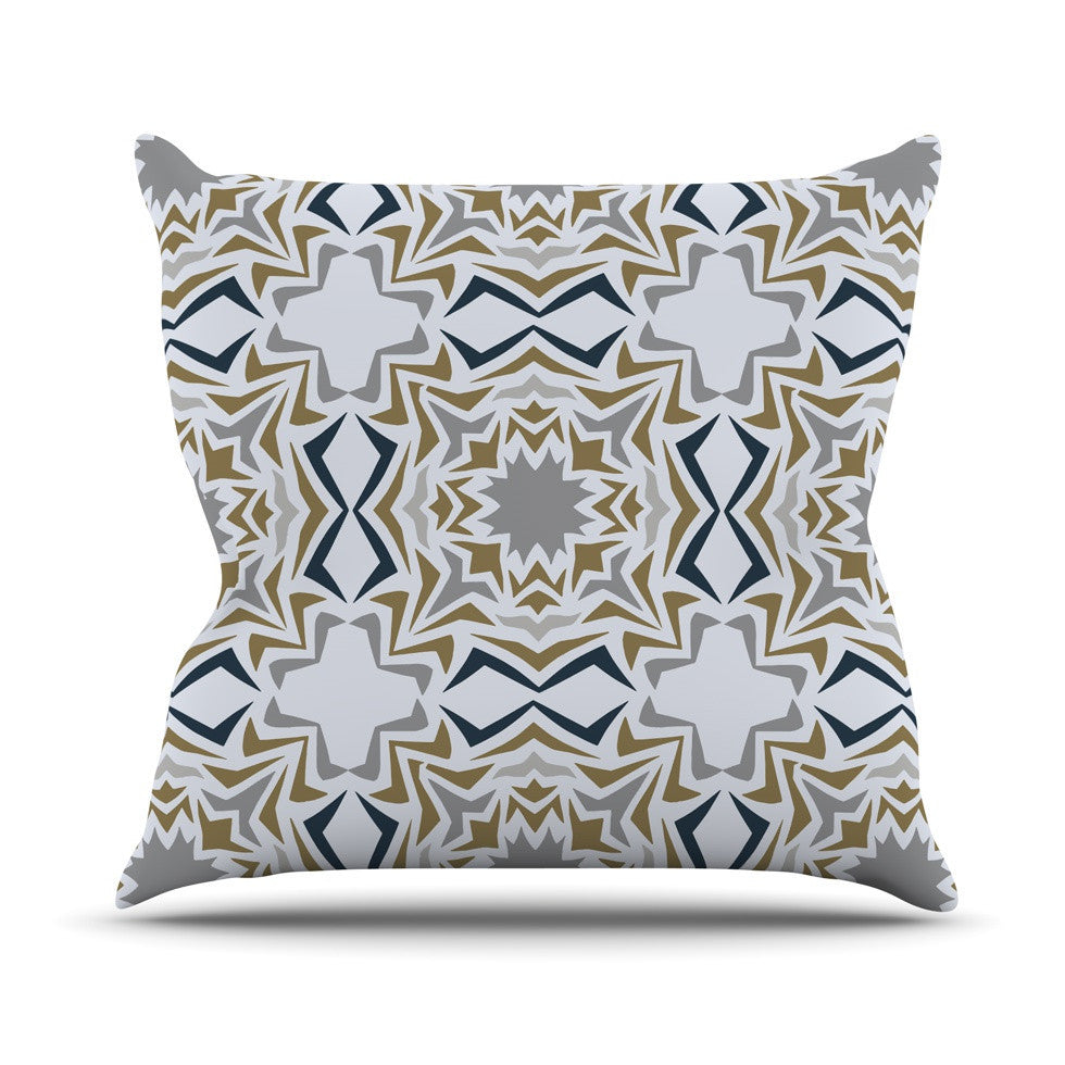 "Miranda Mol ""Ice Stars"" Outdoor Throw Pillow - KESS InHouse  - 1"
