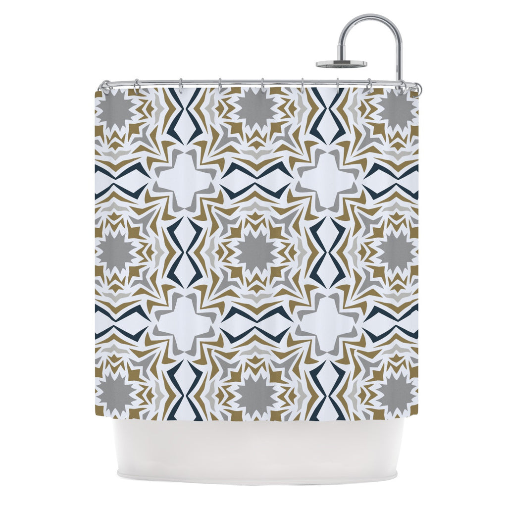 "Miranda Mol ""Ice Stars"" Shower Curtain - KESS InHouse"