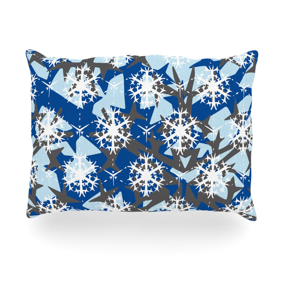 "Miranda Mol ""Ice Topography"" Oblong Pillow - KESS InHouse"