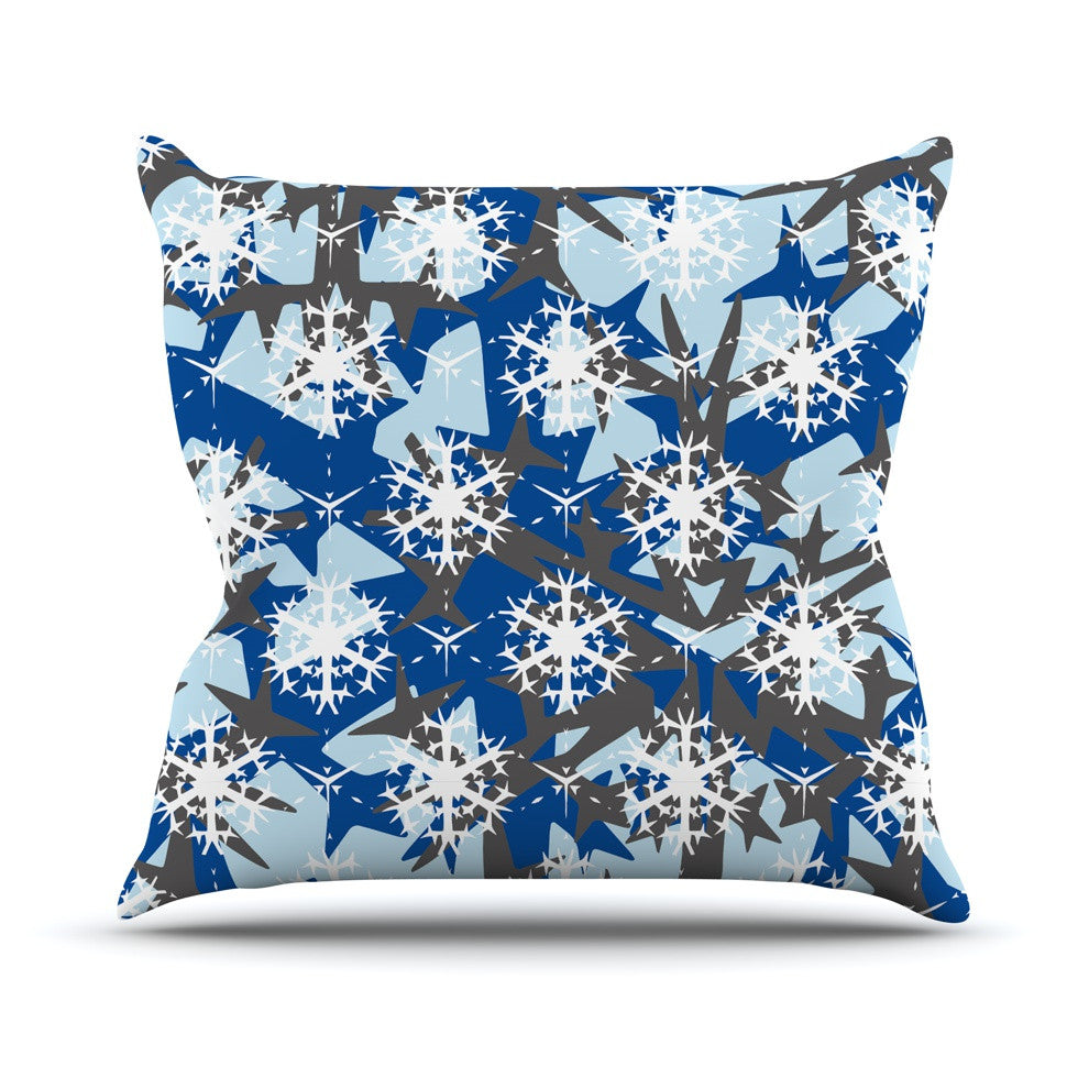 "Miranda Mol ""Ice Topography"" Throw Pillow - KESS InHouse  - 1"