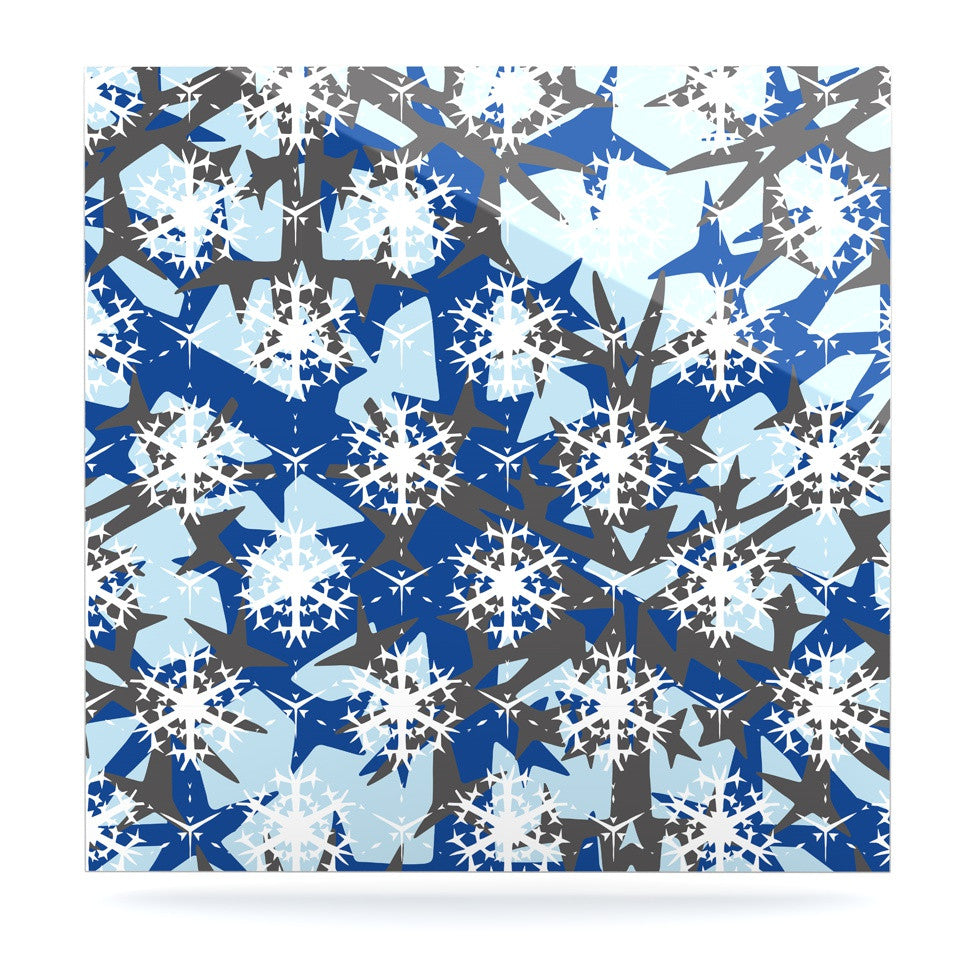 "Miranda Mol ""Ice Topography"" Luxe Square Panel - KESS InHouse  - 1"