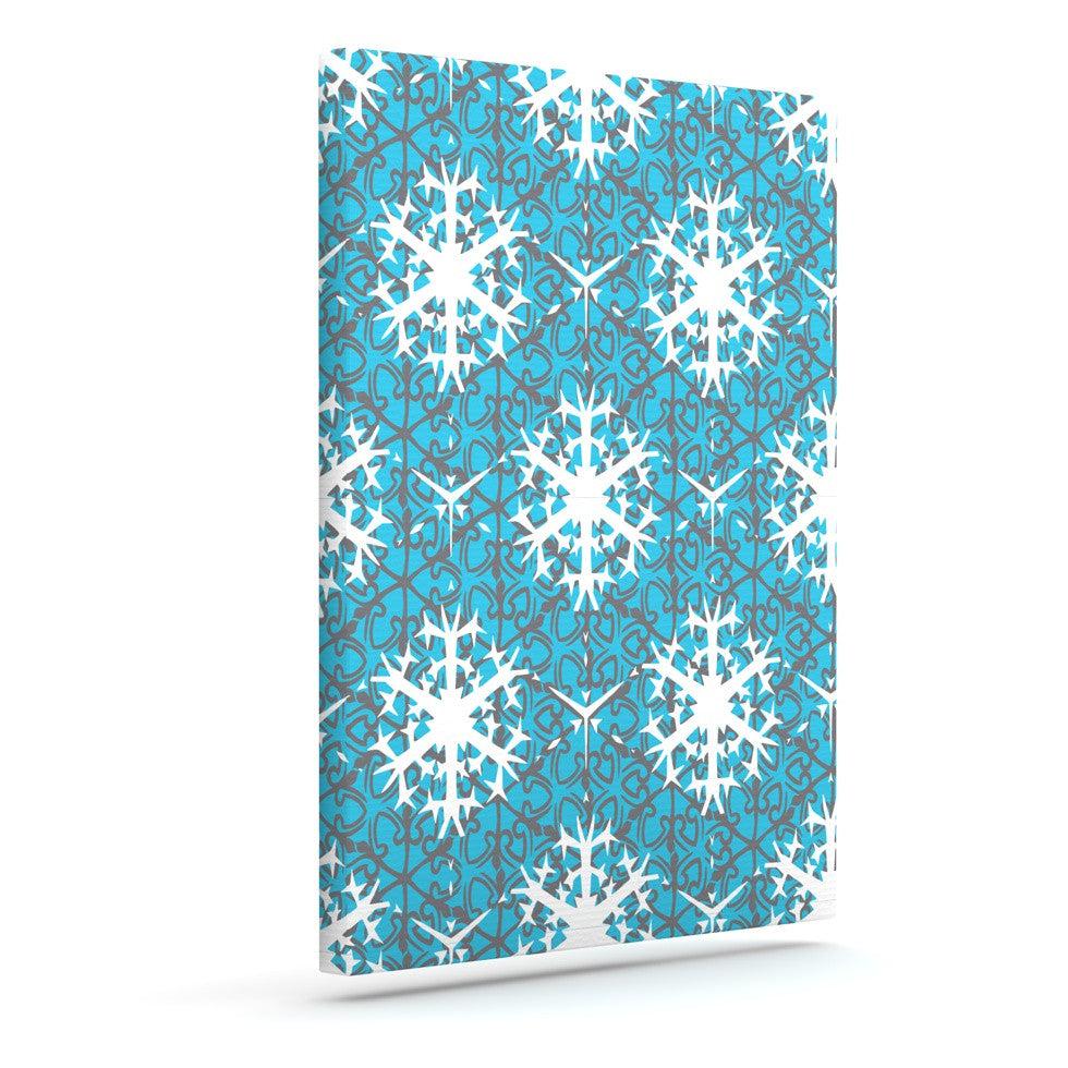 "Miranda Mol ""Precious Flakes"" Outdoor Canvas Wall Art - KESS InHouse  - 1"