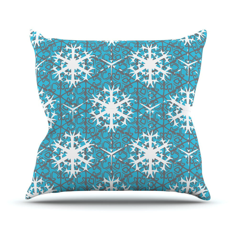 "Miranda Mol ""Precious Flakes"" Throw Pillow - KESS InHouse  - 1"
