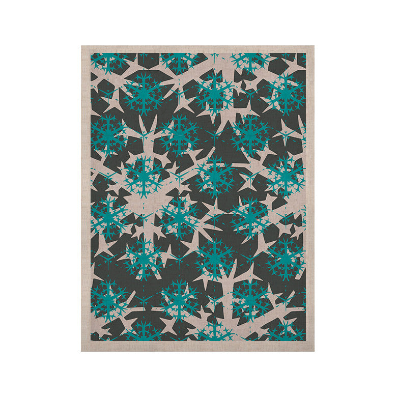 "Miranda Mol ""Tree Snow Flakes"" KESS Naturals Canvas (Frame not Included) - KESS InHouse  - 1"