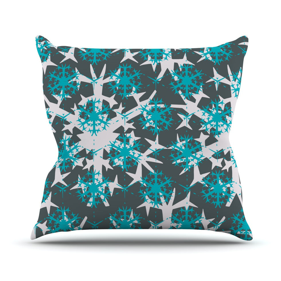 "Miranda Mol ""Tree Snow Flakes"" Outdoor Throw Pillow - KESS InHouse  - 1"