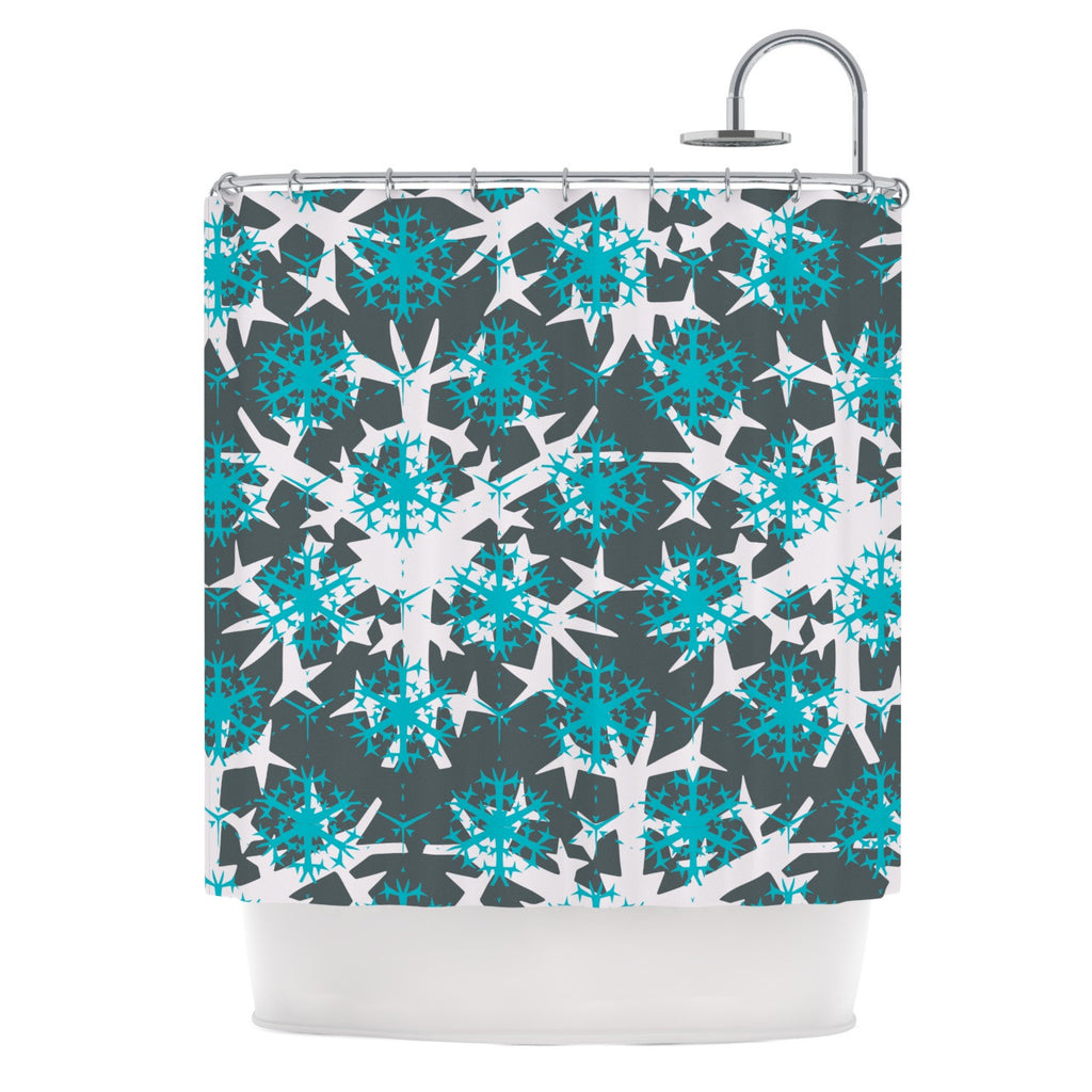 "Miranda Mol ""Tree Snow Flakes"" Shower Curtain - KESS InHouse"