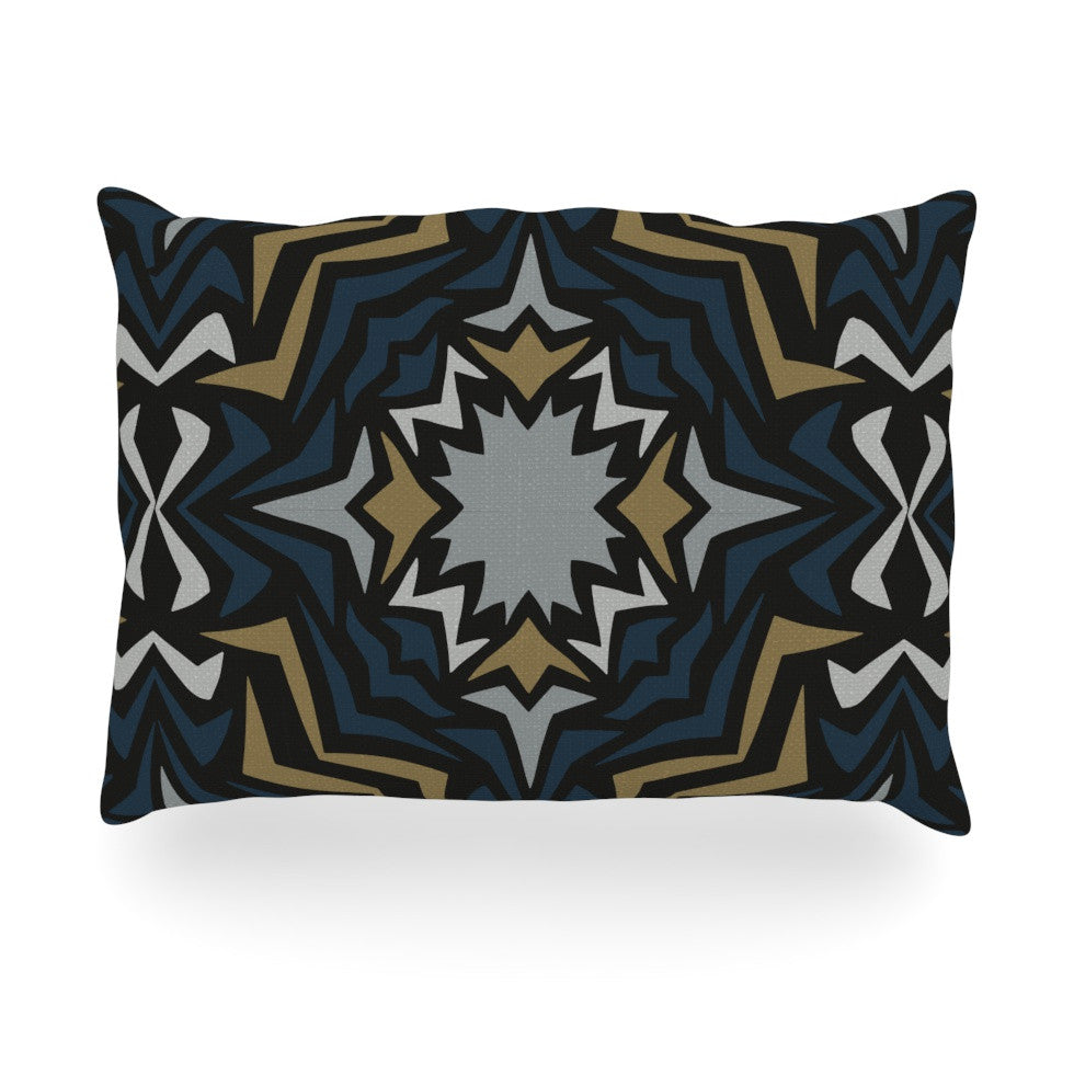 "Miranda Mol ""Winter Fractals"" Oblong Pillow - KESS InHouse"