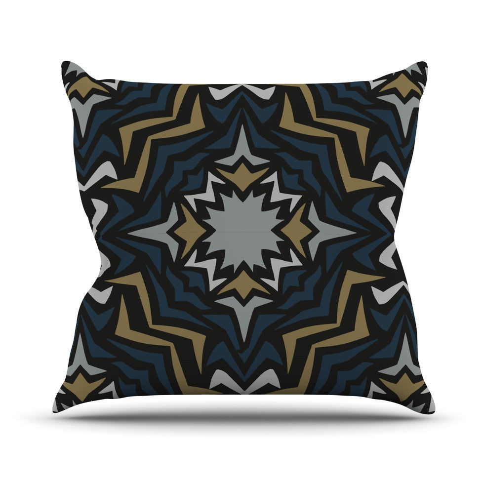 "Miranda Mol ""Winter Fractals"" Throw Pillow - KESS InHouse  - 1"