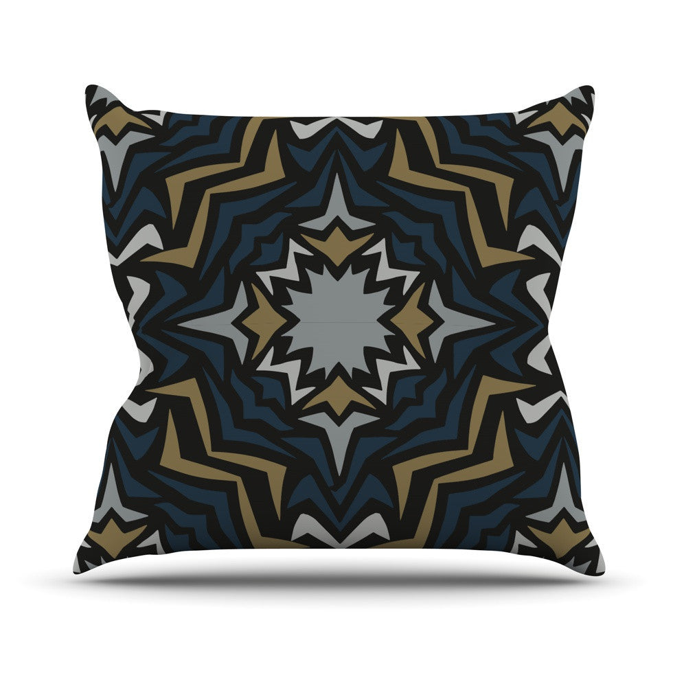 "Miranda Mol ""Winter Fractals"" Outdoor Throw Pillow - KESS InHouse  - 1"