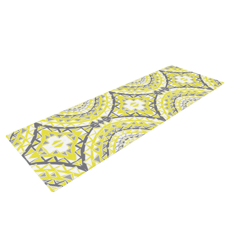 "Miranda Mol ""Yellow Tessellation"" Yoga Mat - KESS InHouse  - 1"