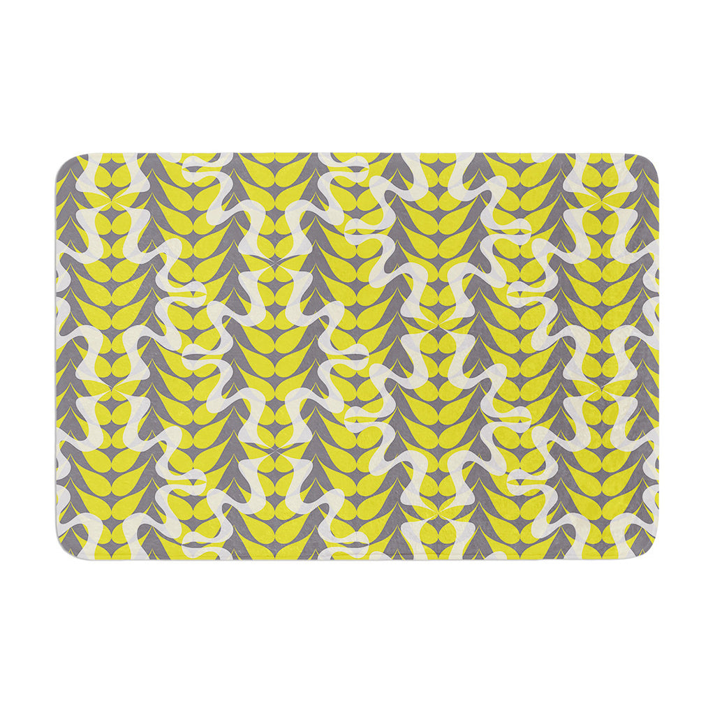 "Miranda Mol ""Whirling Leaves"" Memory Foam Bath Mat - KESS InHouse"