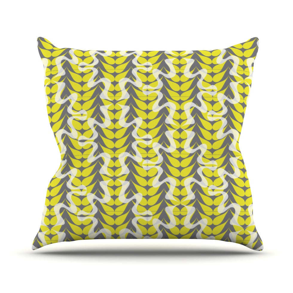 "Miranda Mol ""Whirling Leaves"" Outdoor Throw Pillow - KESS InHouse  - 1"