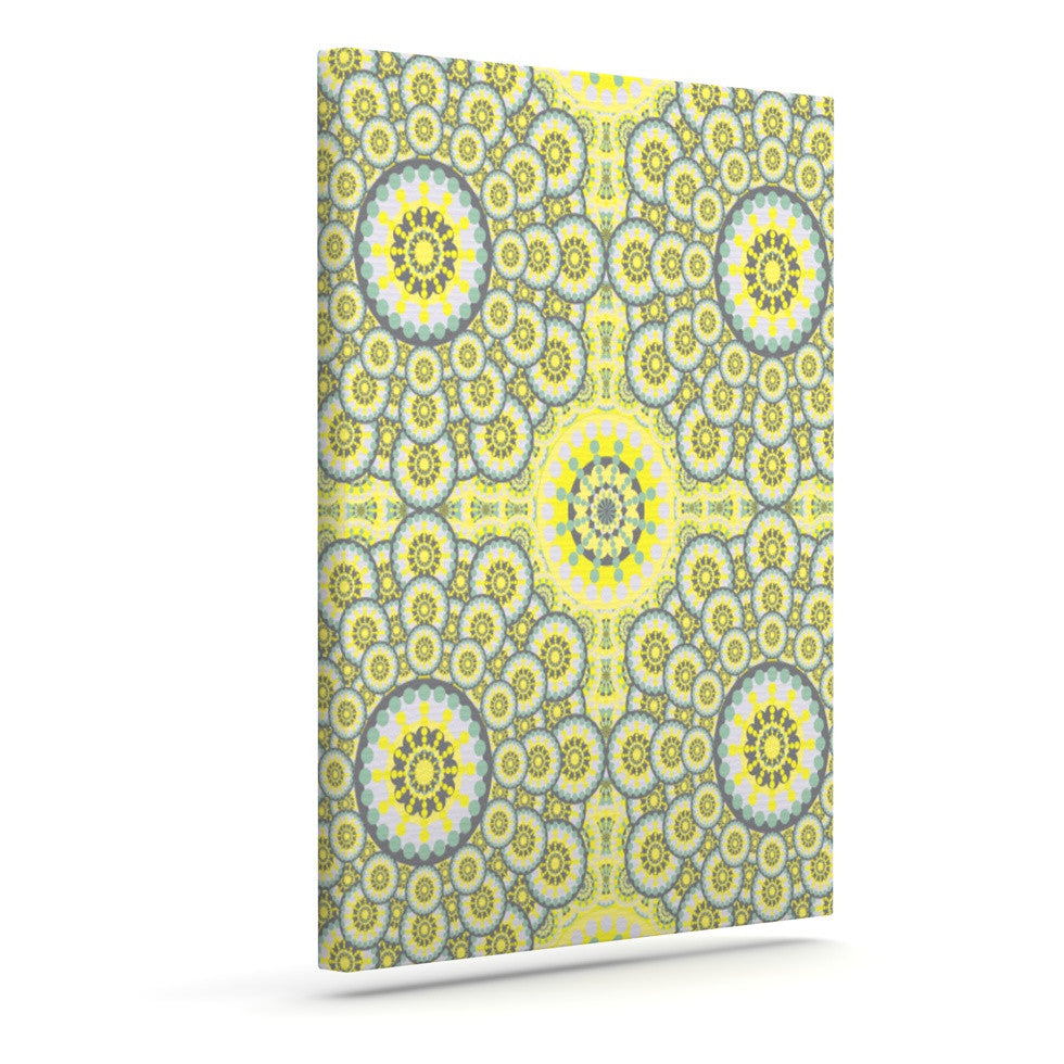 "Miranda Mol ""Multifaceted Flowers"" Outdoor Canvas Wall Art - KESS InHouse  - 1"