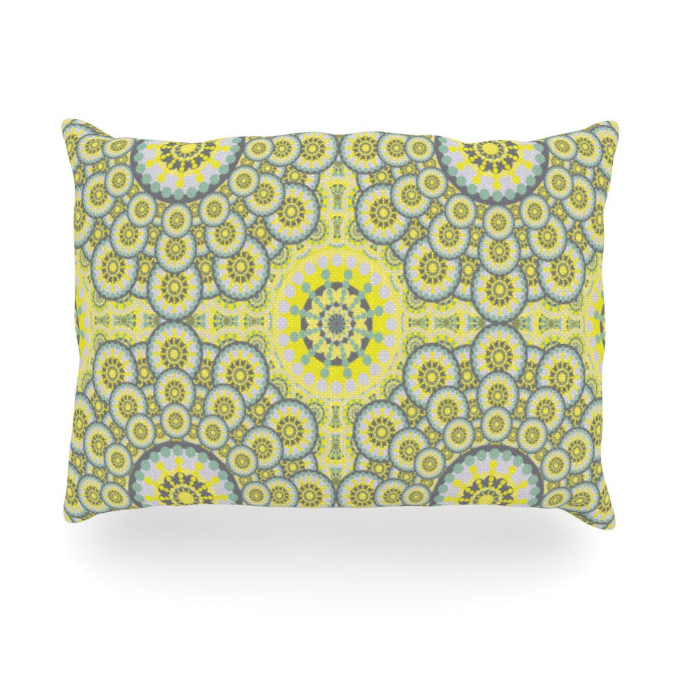 "Miranda Mol ""Multifaceted Flowers"" Oblong Pillow - KESS InHouse"