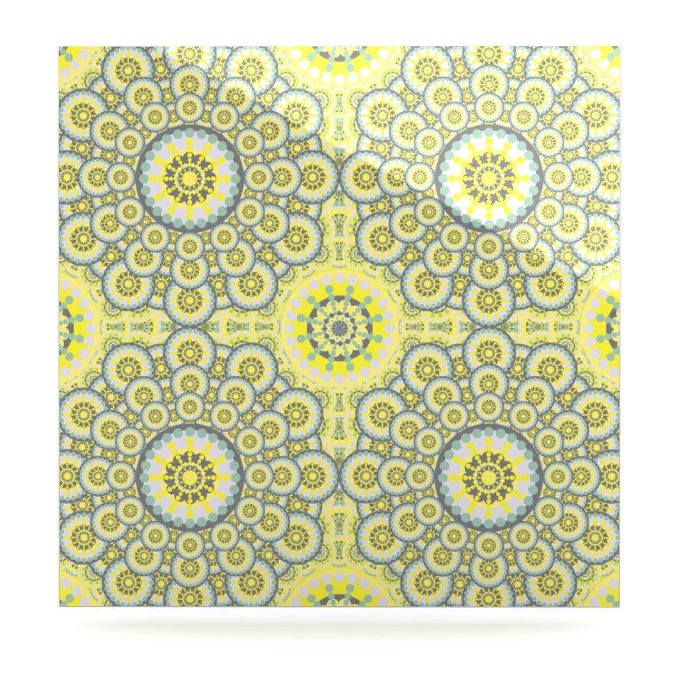 "Miranda Mol ""Multifaceted Flowers"" Luxe Square Panel - KESS InHouse  - 1"