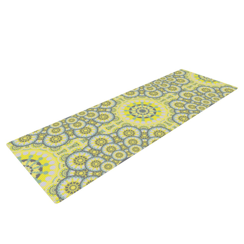 "Miranda Mol ""Multifaceted Flowers"" Yoga Mat - KESS InHouse  - 1"