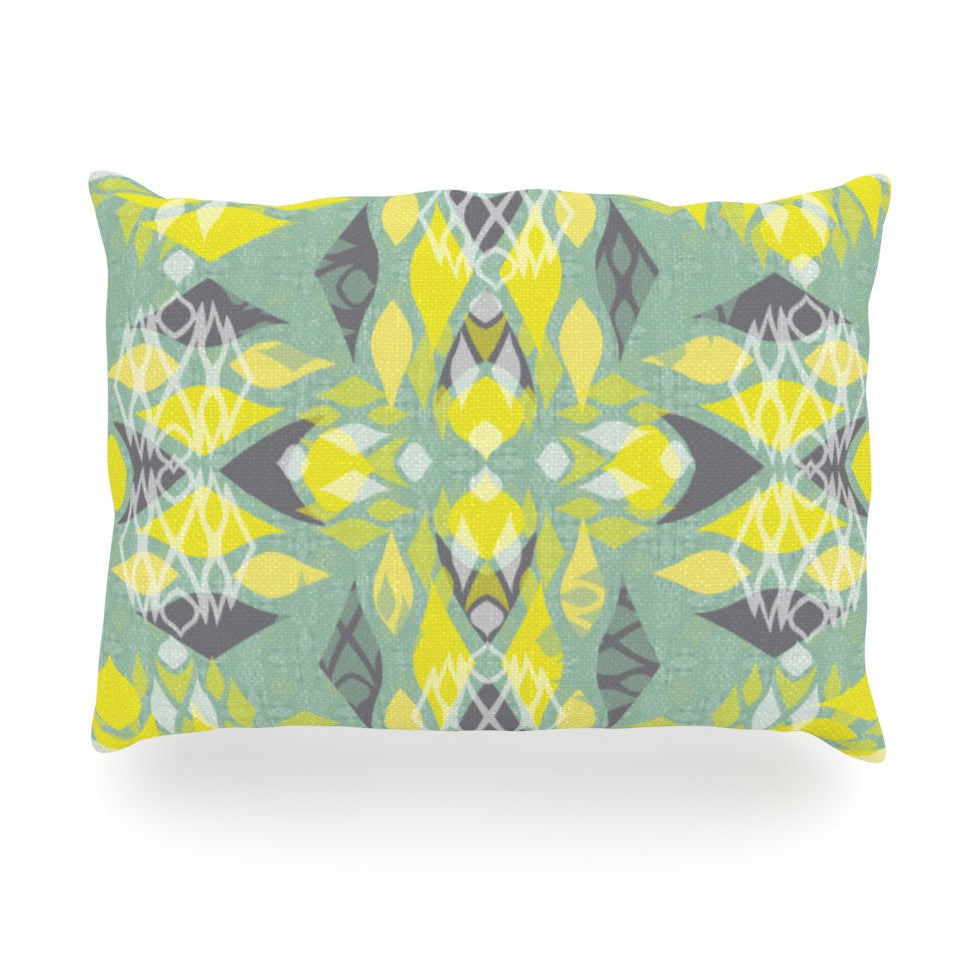 "Miranda Mol ""Joyful Teal"" Oblong Pillow - KESS InHouse"