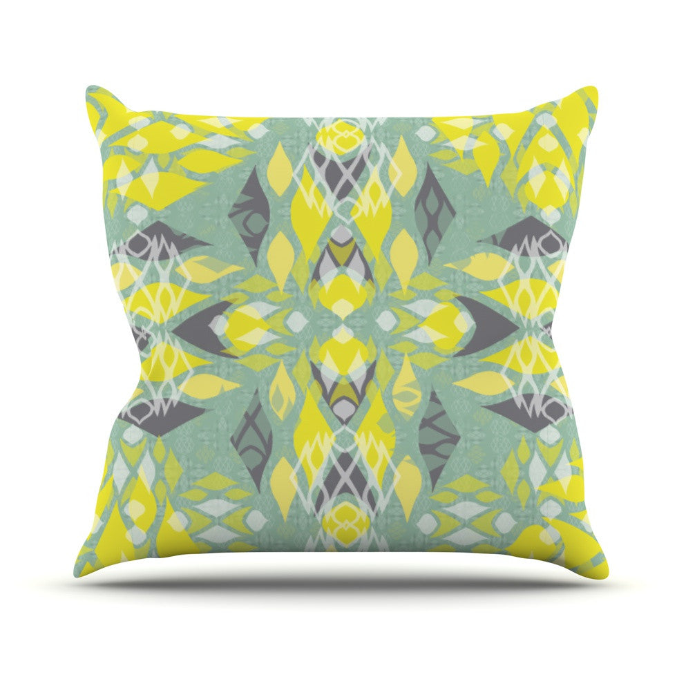 "Miranda Mol ""Joyful Teal"" Throw Pillow - KESS InHouse  - 1"