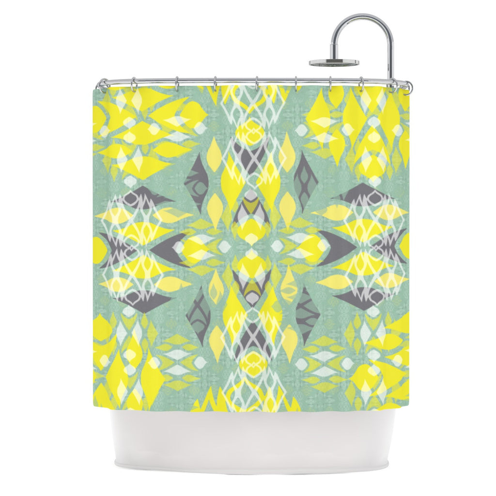 "Miranda Mol ""Joyful Teal"" Shower Curtain - KESS InHouse"