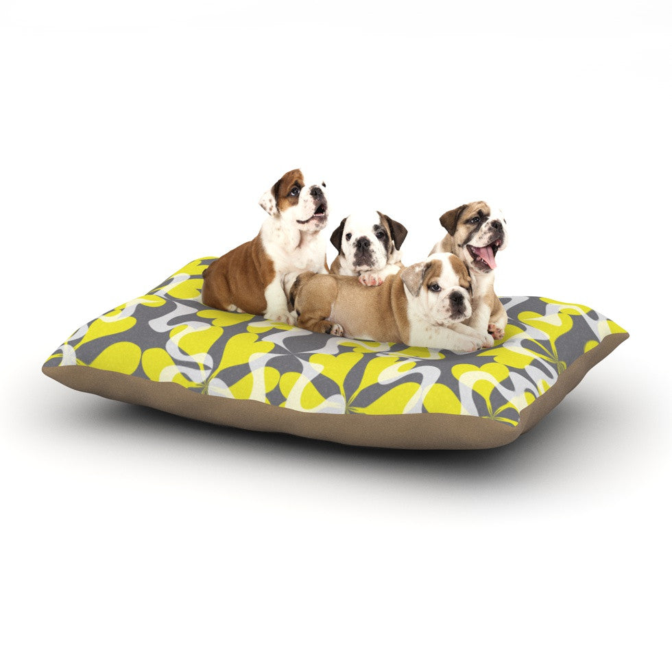 "Miranda Mol ""Flowering Hearts"" Dog Bed - KESS InHouse  - 1"