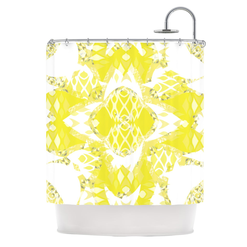 "Miranda Mol ""Citrus Spritz"" Shower Curtain - KESS InHouse"