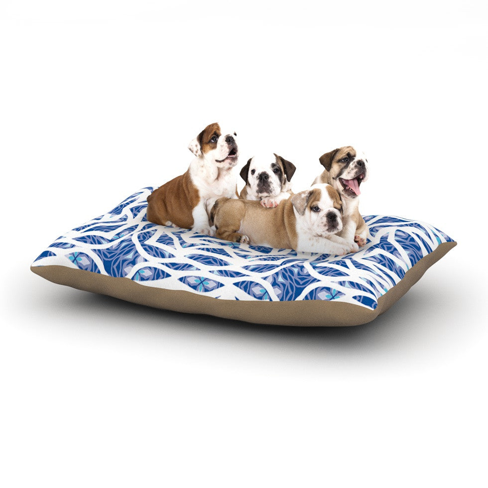"Miranda Mol ""Blue Explosion"" Dog Bed - KESS InHouse  - 1"