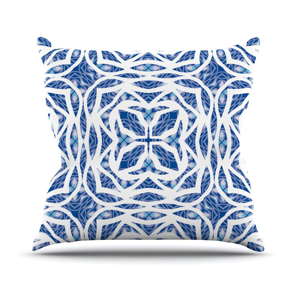 "Miranda Mol ""Blue Explosion"" Outdoor Throw Pillow - KESS InHouse  - 1"