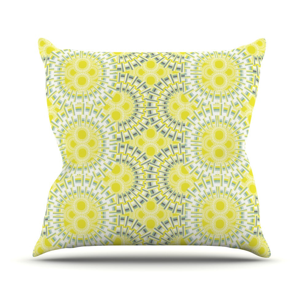 "Miranda Mol ""Blossoming Buds"" Outdoor Throw Pillow - KESS InHouse  - 1"